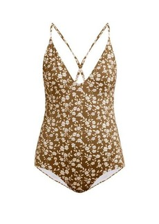 Dodo Bar Or Tata crossover-back floral-print swimsuit