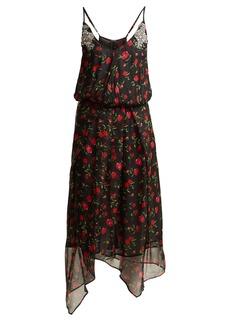 Dodo Bar Or Valentina embellished floral-print chiffon dress