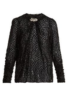 Dodo Bar Or Veronica polka-dot fil-coupé blouse