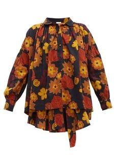 Dodo Bar Or Vyan floral-print cotton top