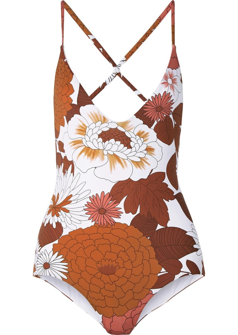 Dodo Bar Or Floral-print Swimsuit