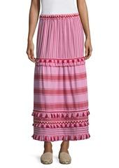 Dodo Bar Or Gael Striped Maxi Skirt