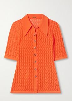 Dodo Bar Or Gleen Pointelle-knit Polo Shirt