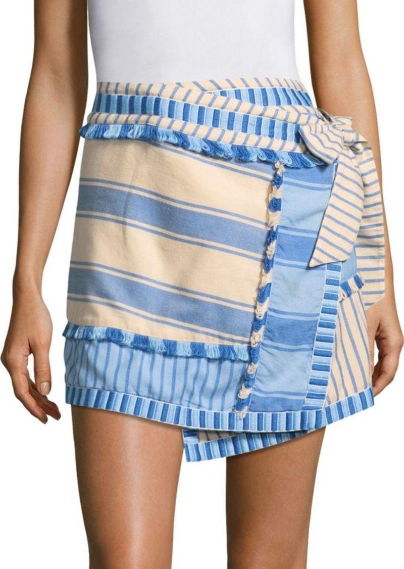 Dodo Bar Or Skirt.Dodo Bar Or Hoze Asymmetric Striped Skirt Skirts