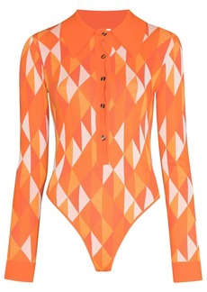 Dodo Bar Or Kim geometric-print bodysuit