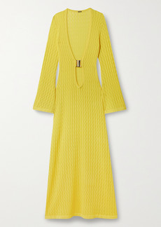 Dodo Bar Or Lin Pointelle-knit Maxi Dress