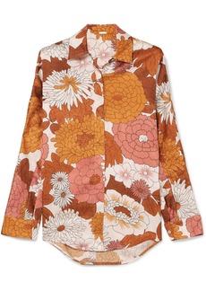 Dodo Bar Or Noemie Floral-print Silk-jacquard Shirt