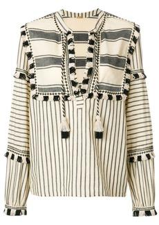 Dodo Bar Or stripe and tassel detail blouse