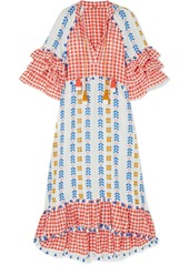 Dodo Bar Or Tasseled Cotton-jacquard And Poplin Dress