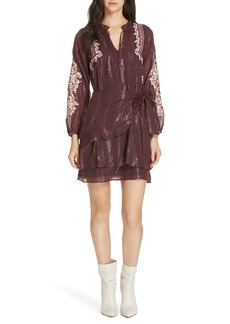 Dolan Amber Embroidered Wrap Skirt Dress