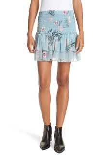Dolan Flutter Chiffon Silk Miniskirt