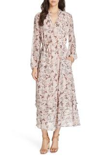 Dolan Frances Floral Silk Maxi Dress