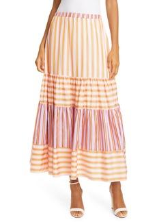 Dolan Frida Mixed Stripe Tiered Skirt
