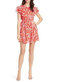 Dolan Julia Clip Dot Jacquard Chiffon Dress