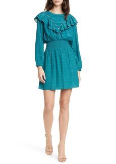 Dolan Rowan Foulard Mix Long Sleeve Dress