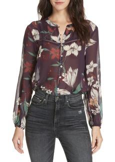 Dolan Theodora Floral Silk Blouse