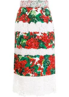 Dolce & Gabbana Portofino-print Cady skirt