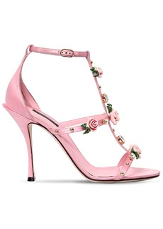 Dolce & Gabbana 105mm Keira Embellished Satin Sandals