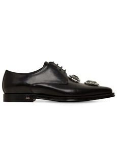 Dolce & Gabbana 10mm Millennial Leather Lace-up Shoes