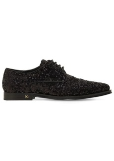 Dolce & Gabbana 10mm Millennial Sequined Lace-up Shoes