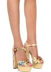 Dolce & Gabbana 150mm Keira Metallic Leather Sandals