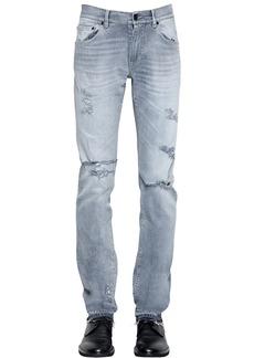 Dolce & Gabbana 16.5cm Destroyed Cotton Denim Jeans
