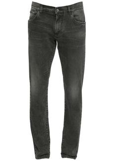 Dolce & Gabbana 16.5cm Logo Cotton Denim Jeans