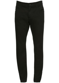 Dolce & Gabbana 16.5cm Logo Skinny Cotton Denim Jeans