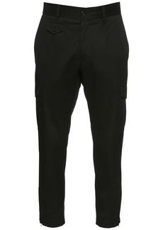Dolce & Gabbana 16cm Stretch Cotton Gabardine Pants