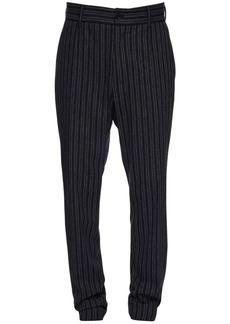 Dolce & Gabbana 16cm Striped Stretch Cotton & Wool Pants