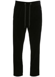 Dolce & Gabbana 17.5cm Cotton Velvet Jogging Pants
