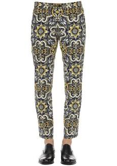 Dolce & Gabbana 17cm Maiolica Print Stretch Cotton Pants