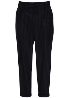 Dolce & Gabbana 17cm Pinstripe Wool Blend Pants