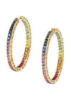 Dolce & Gabbana 18kt yellow gold diamond sapphire rainbow hoops
