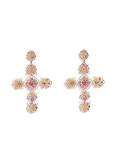 Dolce & Gabbana 18kt yellow gold Pizzo tourmaline drop earrings