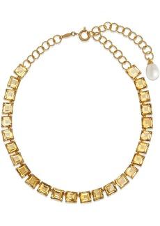 Dolce & Gabbana 18kt yellow gold quartz embellished necklace