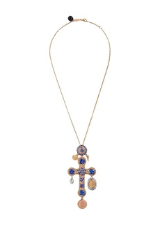 Dolce & Gabbana 18kt yellow gold Tradition cross pendant necklace