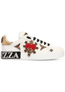 Dolce & Gabbana 20mm Embellished Leather Sneakers
