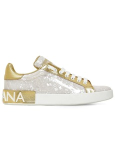 Dolce & Gabbana 20mm Portofino Patent Leather Sneakers