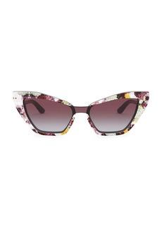 Dolce & Gabbana 29MM Floral Cat Eye Sunglasses