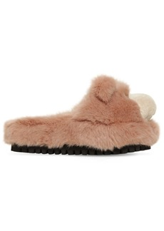 Dolce & Gabbana 30mm Faux Fur Bear Slide Sandals