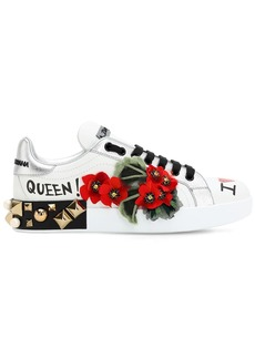 Dolce & Gabbana 30mm Portofino Geraneo Leather Sneakers