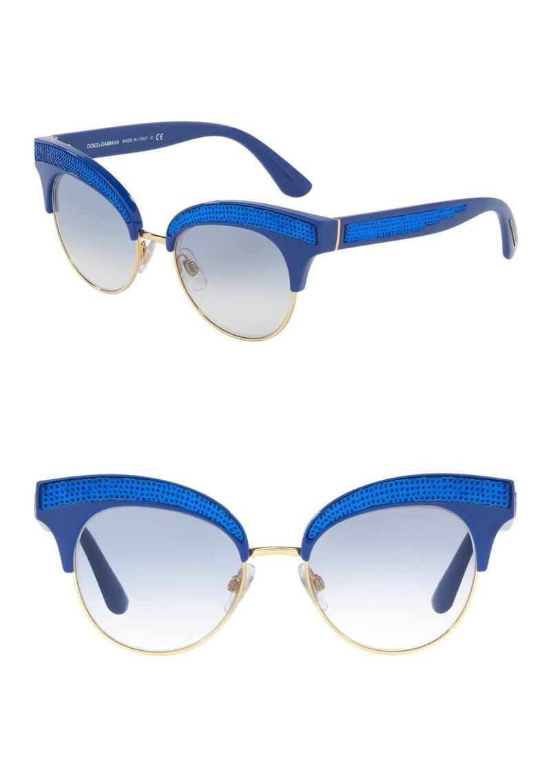 Dolce & Gabbana 50mm Embellished Cat Eye Sunglasses