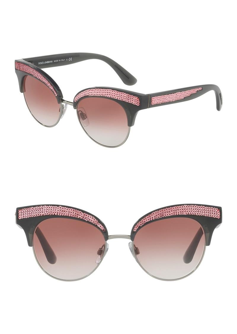 50mm Embellished Cat Eye Sunglasses