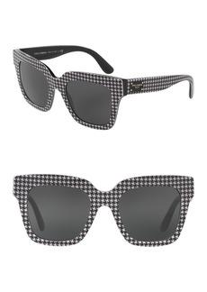 Dolce & Gabbana 51mm Houndstooth Sunglasses