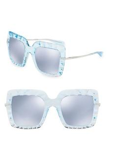 Dolce & Gabbana 51MM Mirrored Square Sunglasses