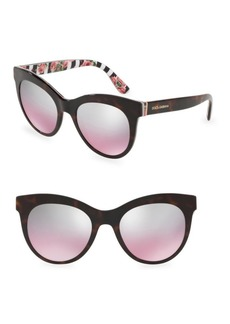 Dolce & Gabbana 51MM Mirrored Sunglasses