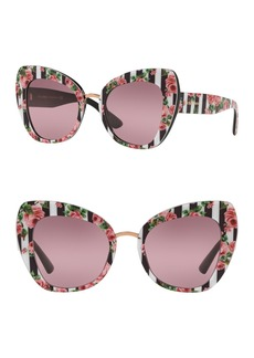 Dolce & Gabbana 51mm Printed Butterfly Sunglasses