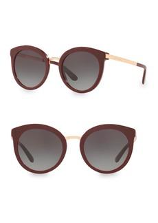 Dolce & Gabbana 52MM Round Sunglasses