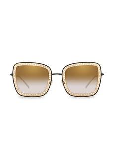 Dolce & Gabbana 52MM Square Lattice Sunglasses